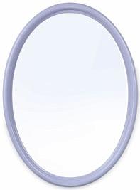 Зеркало Зеркало ГОЛУБОЙ. Зеркало классической овальной формы Sonata может крепиться к стене как вертикально, так и горизонтально. Цветовая палитра светлых тонов позволит подобрать данный аксессуар ко