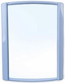 """Зеркало Зеркало """"Бордо"""" СВЕТЛО-ГОЛУБОЙ. Зеркало Bordo в пластиковом обрамлении в первую очередь предназначено для ванных комнат. Может успешно использоваться и в спальнях, прихожих и прочих помещениях"""