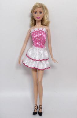 Платье белое с розовым лифом