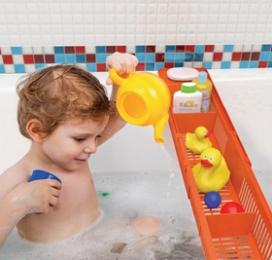Полка Полка на ванну СНЕЖНО-БЕЛЫЙ. Пластиковая полка на ванну Toys – это изящное решение вопроса хранения детских игрушек в ванной и замечательное развлечение для малышей во время купания. Разнообрази