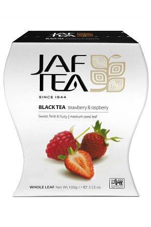Чай JAF Strawberry & Raspberry черный, 100г