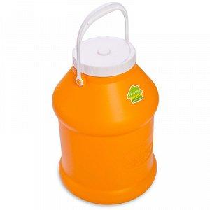 Бидон Бидон 8,0л [ПРОСПЕРО]. Пластиковые бидоны с крышками отлично подойдут для хранения и транспортировки жидких (воды, молока, масла, варенья) или сыпучих (крупы, сахар) продуктов. Плотно прилегающи