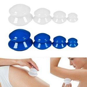 Банки для вакуумного массажа из антиаллергенной резины (4 шт)