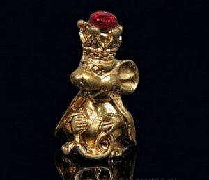 Мышка кошельковая Царская, цвет золото (в упак)