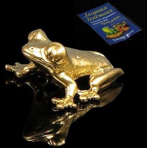 Лягушка кошельковая , цвет золото (в упак)