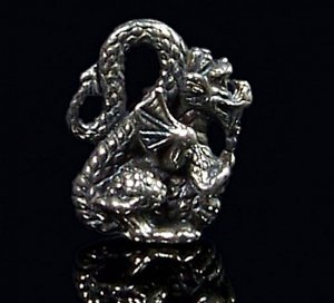 Кошельковый дракон, олово (в упаковке)