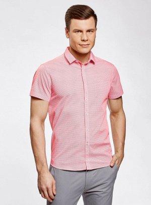 Рубашка приталенная с нагрудным карманом