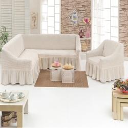 Чехол для мебели 2 предм, кремовый