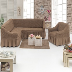 Чехол для мебели 2 предм,серо-коричневый