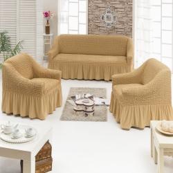 Чехол для мебели 3 предм, медовый