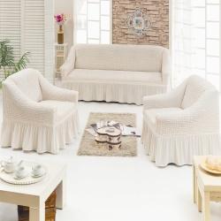 Чехол для мебели 3 предм, кремовый