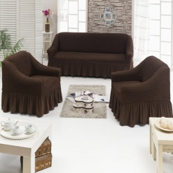 Чехол для мебели 3 предм, шоколад
