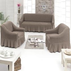 Чехол для мебели 3 предм, капучино