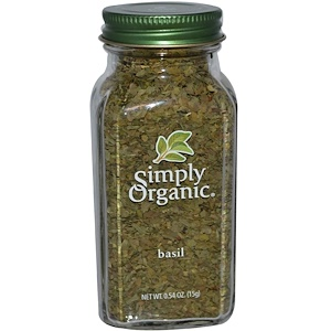 Simply Organic, Базилик 15 гр