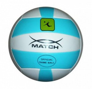 Мяч волейбольный Х-Match  2 слоя , ПВХ., машин. сшив.,бело-голубой