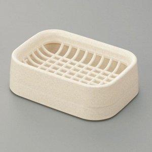 Мыльница Мыльница СЛИВОЧНЫЙ. Оригинальная мыльница 12,3*8,6*3,4 см выполнена из прочного пластика высокого качества. Благодаря лаконичной форме такой аксессуар отлично впишется в любой интерьер ванной