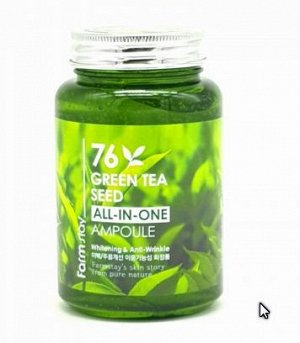 Farm Stay   Green Tea All-in-one Ampoule 250ml - Омолаживающая ампула с экстрактом зеленого чая 250мл