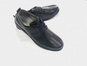 Туфли мужские темно-синие.