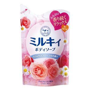 Молочное мыло для тела с аминокислотами шёлка и ароматом цветов MILKY BODY SOAP (сменная упаковка) 400 мл