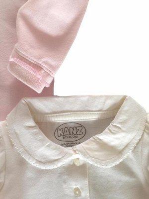 Комплект из 2-х боди (белое + розовое)