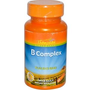 Thompson, Комплекс витаминов группы B с рисовыми отрубями, 60 таб