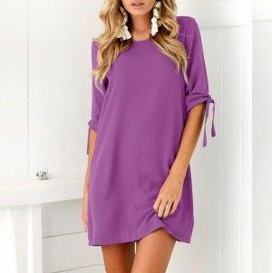Платье короткое цвет: ФИОЛЕТОВЫЙ