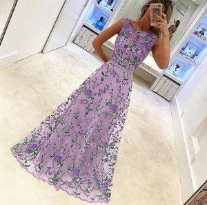 Платье длинное цвет: ФИОЛЕТОВЫЙ