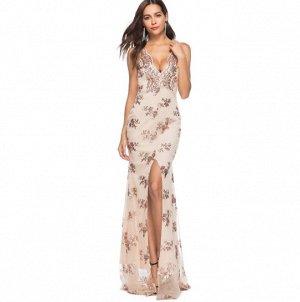 Платье длинное цвет: ЗОЛОТО