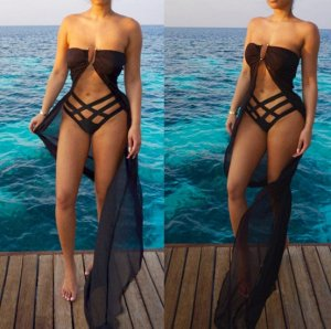 Платье длинное пляжное цвет: ЧЕРНЫЙ