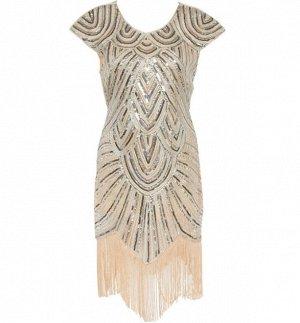 Платье средней длины с короткими рукавами цвет: КРЕМОВЫЙ