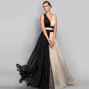 Платье длинное без рукавов цвет: ЧЕРНЫЙ