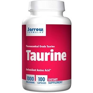 Jarrow Formulas, Таурин 1000 мг, 100 кап