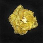 Бантик для волос Сакура золото резинка