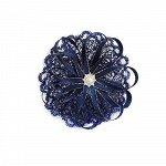 Бантик для волос Паутинка темно-синий резинка