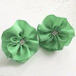 Бант для волос Вальс зеленый резинка