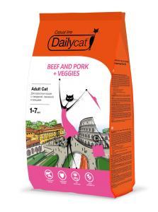 Премиум корма + Наполнители, смываемые в унитаз! — DailyCat Casual line ADULT — Корма
