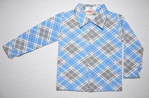 Рубашка футер двунитка с начесом(на кнопках)