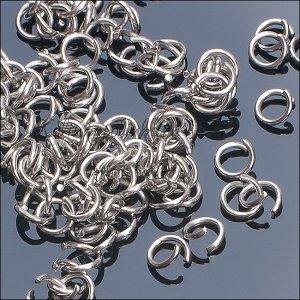 Колечки соединительные, разомкнутые, хирургическая сталь AISI 304, р-р 6х0.7мм.