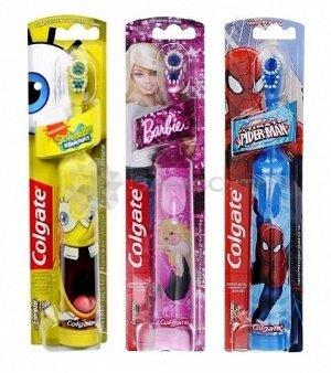 Колгейт Щетка Зубная Электрическая Детская Sponge Bob / Barbie,Spiderman (Fcn10038)
