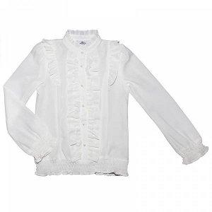 Блузка с резинкой на талии и манжетах