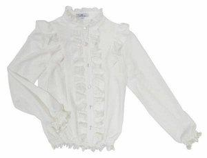 Блузка на резинке с рюшами