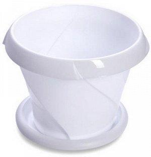 Кашпо Кашпо 5,4л с поддоном [ФЛОРИАНА] БЕЛЫЙ. Размеры изделия: диаметр 268 мм., высота 198 мм.