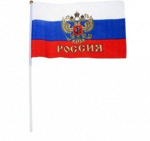 Флаг России с гербом  20×28 см