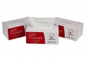 "Салфетки в коробке  ""INSHIRO"" SilkFlower   2-х. сл. белые  (спайка 3*250 шт.)"