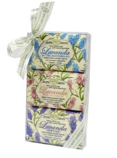 Набор мыла Lavanda / ЛАВАНДА  (Розовое Кьянти, Голубое Средиземноморье, Лаванда узколистная)