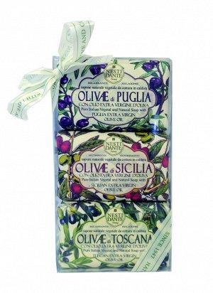 Набор мыла Olivie / ОЛИВА  (Сицилийская олива, Олива из Апулии, Тосканская олива)