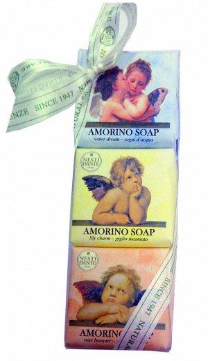 Набор мыла Amorino / АМУРЫ  (Букет роз, Нежность лилии, Мечта о море)
