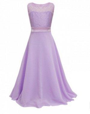 Нарядное длинное платье без рукава