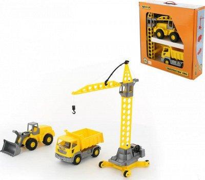 Полесье. Любимые игрушки из пластика. Успеем до повышения — Кран — Машины, железные дороги