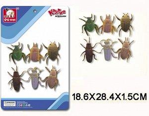 SR6328-144 Резиновые насекомые,6шт(на картоне)